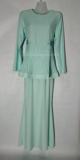 Baju kurung moden size 34 soft green