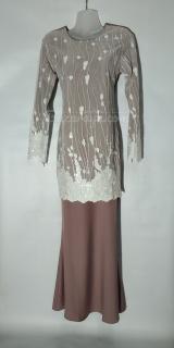 Baju kurung moden size 34 dusty pink