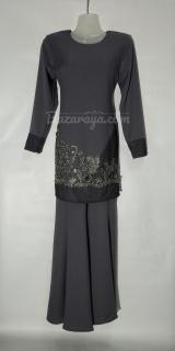 Baju kurung moden size 34 grey