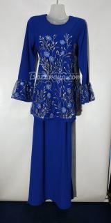 Baju kurung moden size 36 royal blue