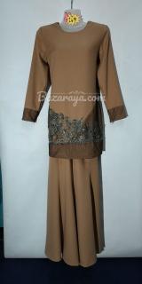 Baju kurung moden size 36 brown