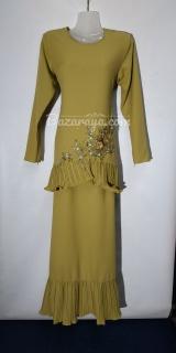 Baju kurung moden size 36 olive