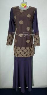 Baju kurung moden size 36 dark violet