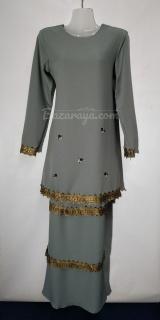 Baju kurung moden size 36 grey