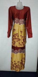 Baju kurung moden size 36 maroon