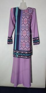 Baju kurung moden size 36 lavender