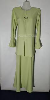 Baju kurung moden size 36 soft green