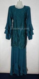 Baju kurung moden size 36 prussian blue