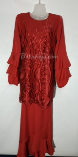 Baju kurung moden size 36 red
