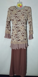 Baju kurung moden size 36 dusty pink